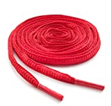 OrthoStep Oval Athletic Red 54 inch Shoelaces - Sports Shoelaces 2 Pair Pack