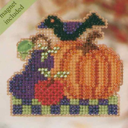 Harvest Garden Beaded Counted Cross Stitch Ornament Kit Mill Hill 2010 Autumn Harvest MH18-0204 ()