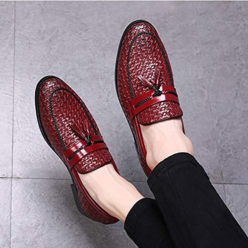 Cuero Personalizados Casuales Para Banquete Mocasines Verano Red Primavera Guisantes De Hombres Zapatos Borla nYfw8qfvx