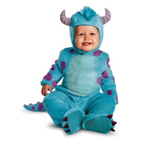 Grease 2 Costume (Disguise Costumes Disney Pixar Monsters University Sulley Classic Infant, Blue/Purple, 6-12 Months)