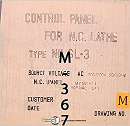 Mori Seiki SL-3, Lathe Control Panel Electrical Parts and