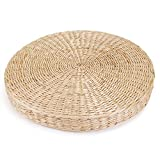 TATAMI 45cm Round Pouf Cushion Zafu Chair Floor Cushions Natural Straw Meditation Yoga Mat