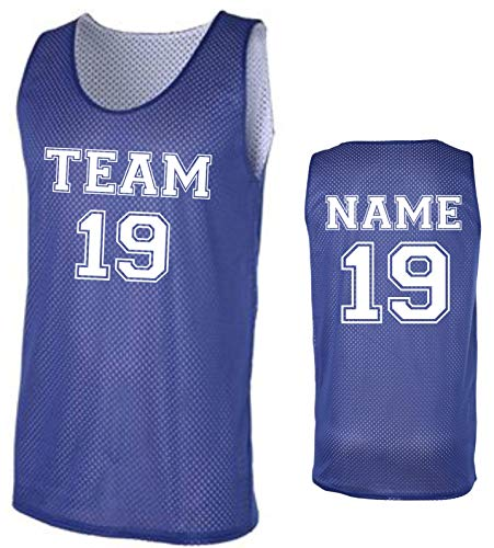Custom Basketball Tank Tops- Make Your OWN Jersey - Personalized Team Uniforms (Blue, Large)