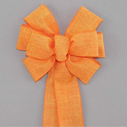 Orange Rustic Fall Halloween Wreath Bow - Color Options - available in 2 sizes -