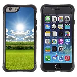 Suave TPU GEL Carcasa Funda Silicona Blando Estuche Caso de protección (para) Apple Iphone 6 / CECELL Phone case / / Nature Field Sun /