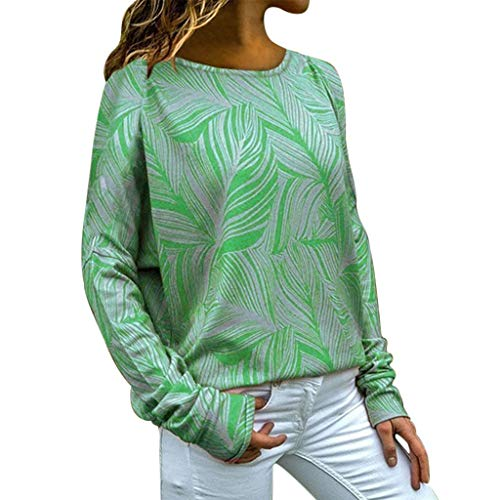 Women's V Neck Mesh Panel Chiffon 3/4 Bell Sleeve Blouse Top Shirt Tee(Green,X-Large)]()