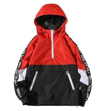 YanHoo Chaquetas Deportivas para Hombre Chaqueta de Bolsillo Suelta con Capucha para Hombre Abrigo de Asalto