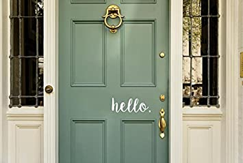 Amazoncom Enchantingly Elegant Hello Decal Cute Front Door Vinyl - Cute custom vinyl stickers   for business