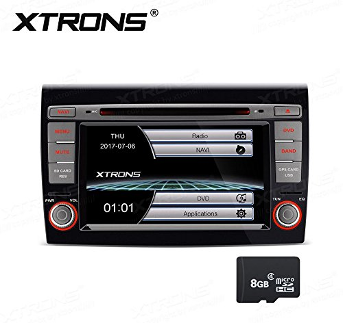 XTRONS 7 Inch HD Digital Touch Screen Car Stereo In-Dash DVD Player with GPS CANbus Screen Mirroring for FIAT Kudos Map Card Included by XTRONS (Image #9)