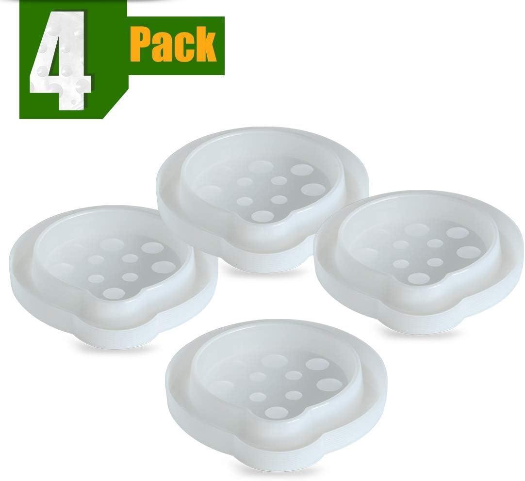 ASPECTEK Trampa para pulgas y chinches, Control de Insectos, Paquete de 4