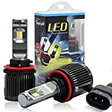 Automotive : Win Power LED Fog Light Conversion Kit H11(H8 H9) Dual Fog/Driving Light White/Yellow(3000K/6000K) Color Adjustable, 1 Pair-2 Year Warranty