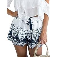 simplEE Prendas de vestir las mujeres de playa Boho bordado Tassel Cordón Algodón para Hombre