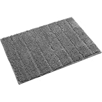 UArtlines Floor Mat/Cover Floor Rug Indoor/Outdoor Area Rugs, Washable Garden Office Door Mat,Kitchen Dining Living Bathroom Pet Entry Rugs with Non Slip Backing (20x32, Grey)