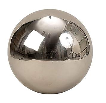 Bola de acero inoxidable 25 cm Bola de Jardín Decorativa ...