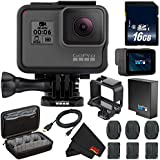 6Ave GoPro HERO6 Black + 16GB Class 10 Micro SD Memory Card + Micro HDMI Cable + Custom GoPro Case for GoPro HERO4 and GoPro Accessories + MicroFiber Cloth Bundle