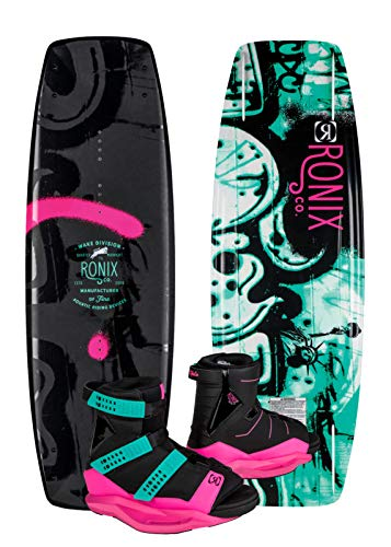 Ronix 134 - Quarter 'Til Midnight Wakeboard Women's Package w/Halo Boots - 8-10.5 (2019)