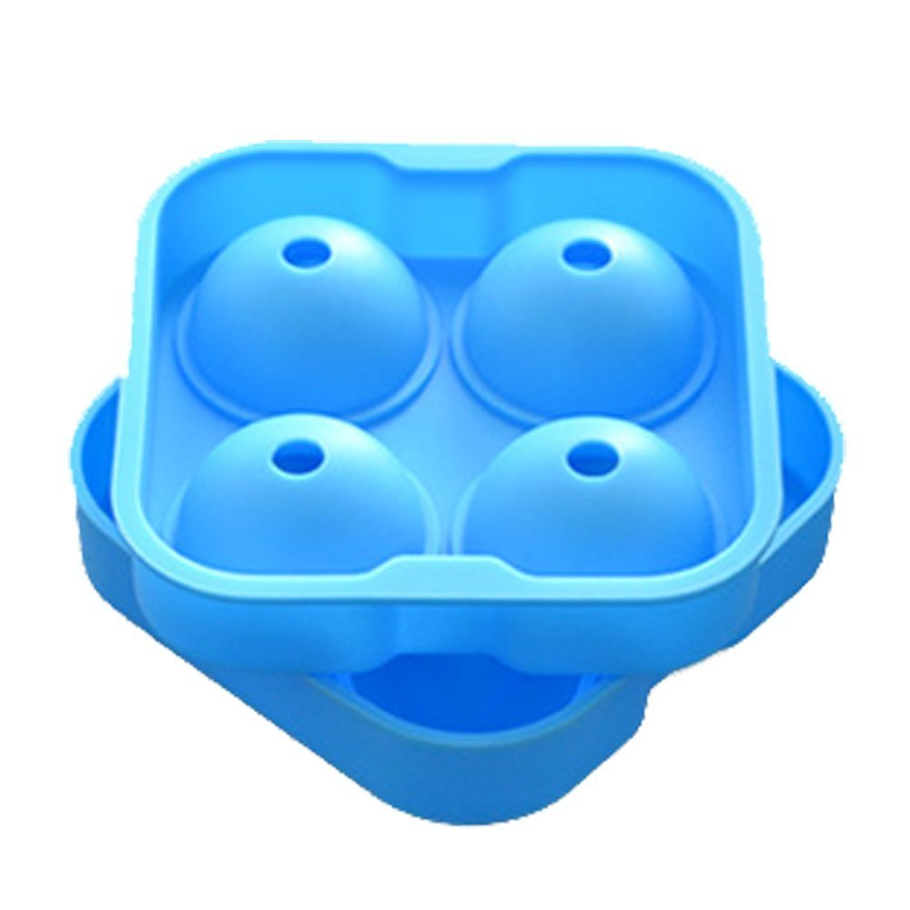 Premium Ice Ball Maker Mold – 4.5cm Ice Balls – Silicone Ice Sphere Tray - Enjoy Chilled Drinks (Whiskey, Cocktail, Coffee, Tea, Water) Without Dilution-Sky blue