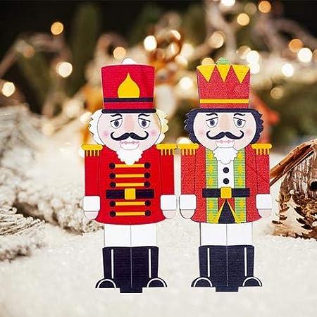 14.6 * 5.8CM Nutcracker Christmas Decorations Classical Soldier Nutcracker Doll Puppet For Christmas Tree Decoration Pendant