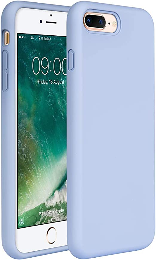 Miracase iPhone 8 Plus Silicone Case, iPhone 7 Plus Silicone Case Gel Rubber Full Body Protection Shockproof Cover Case Drop Protection for Apple ...