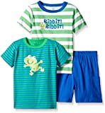Gerber Toddler Boys Three-piece T-shirt and Short Set, Frog/Exclusive, 4T