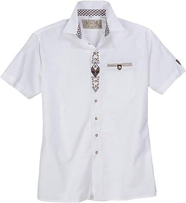 Orbis Camisa Tradicional de Manga Corta Bordada en Blanco XXL: Amazon.es: Ropa y accesorios