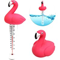 ABEDOE Termómetro de Piscina Flotante, Flamingo Shape Floating