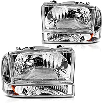 AUTOSAVER88 For 01 02 03 04 Ford Excursion F250 F350 Super Duty Headlight  Assembly+Park/Signal Lamp,OE Projector Headlamp,Chorme housing,One-Year  Limited ...