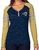 "St. Louis Rams Women's Majestic NFL ""Lead Play"" Long Sleeve Henley Shirt"