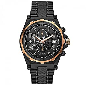 Guess W0243G2 - Reloj para hombres, correa de acero inoxidable chapado color negro
