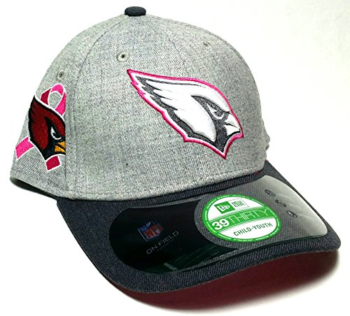 9d2c5f519 Arizona Cardinals New Era 39Thirty Youth Child Breast Cancer Gray Pink Hat  Cap