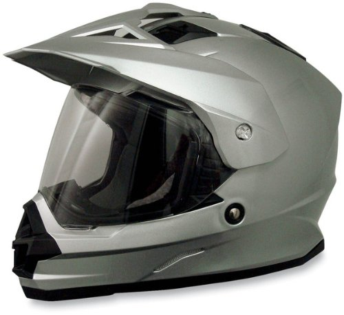AFX FX-39 Unisex-Adult Full-Face-Helmet-Style Dual Sport Helmet (Silver, Large)