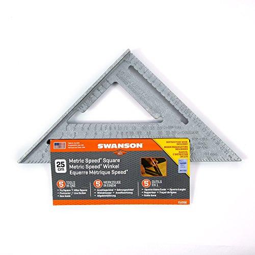 Swanson Tool EU202 25 cm Metric Speed Square w/Bl
