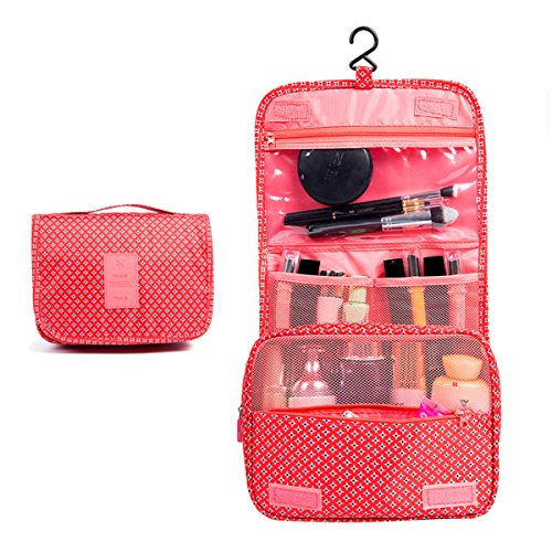 Surblue Travel Toiletry Bag Protable Organizer Makeup Case Cosmetic Hanging Hook Shaving Kit