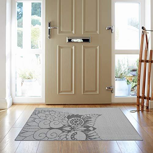 (iCustomRug Anti-Skid Owl Print Grey Tones 28
