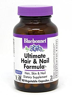 BlueBonnet Ultimate Hair and Nail Formula Supplement, 90 Count