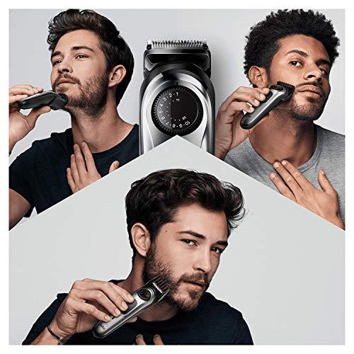 Braun Recortadora de Barba BT7240, Máquina Cortar Pelo, Recortadora y Cortapelos para Hombre, Cuchillas Metálicas Afiladas de Larga Duración, 39 Ajustes de Longitud, Color Negro/Gris Metalizado