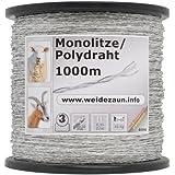 1000 m cordon monofil transparent 2,5 mm conducteurs : 2 x 0,50 acier inox clôture électrique