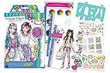 Fashion Design: Digital Dream Kawaii Anime Emoji Stickers Sketch Book
