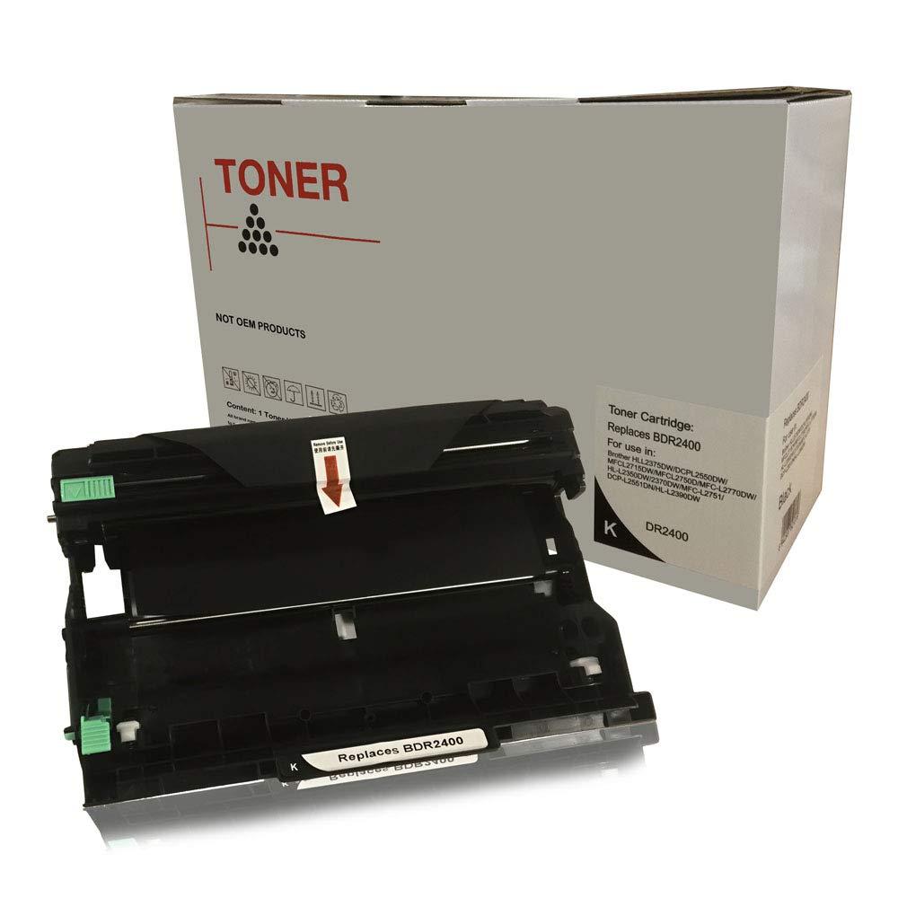 DOREE DR-2400 DR 2400 DR2400 Tamburo Compatibile per Brother HL-L2310D L2350DW L2370DN L2375DW/ DCP-L2510D L2530DW L2537DW L2550DN/ MFC-L2710DN L2710DW L2730DW L2750DW impresoras - Nero, 12,000 pagine RedStar Toner