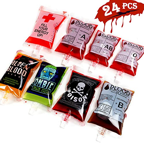 tainer 24 Pcs Drink Cups Bags Vampire Zombie Party Favors Supplies Halloween Decorations ()