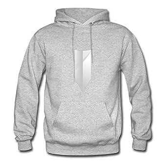 Custom Shield Grey Women Organic Cotton Sweatshirts Fitted Funny X-large