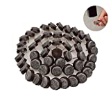 Chair Leg Protectors for Wooden Floors 55Pcs Round Heavy Duty Felt Nail-on Anti-Sliding Glide Pads for Chairs,Stools,Tables,Wooden Furniture Leg,Hard Wood Floor Protector(Brown)