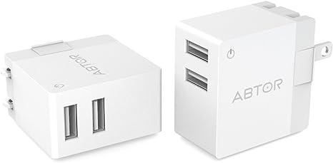 Amazon.com: Dual Cargador de pared USB con 2 puertos y ...