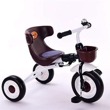 Havanadd-Sports Bicicleta niño Triciclo para niños Cochecito Trike Pedal de 3 Ruedas Bicicleta Interior