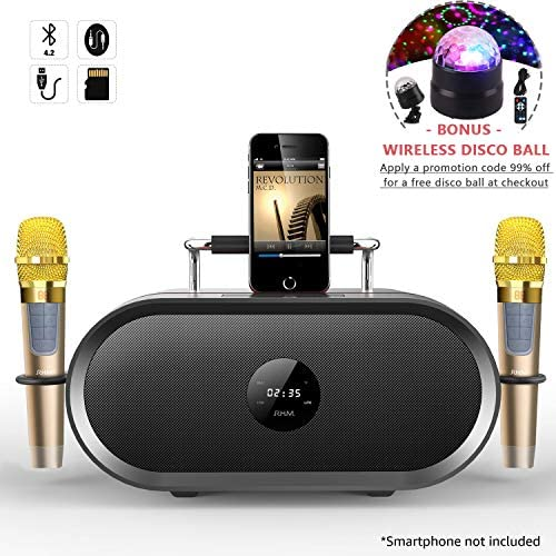 Portable PA Bluetooth Speaker System with 2 Wireless Microphones SoundBeast Minotaur All-In-One Karaoke Music