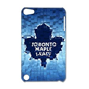 3D Print NHL Original Six &Toronto Maple Leafs Team Logo Background Case Cover for IPod Touch 5- Personalized Hard Back Protective Case Shell-Perfect as gift