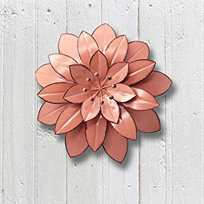 Juegoal Metal Flower Wall Art Decor For Indoor Outdoor Home Bedroom Living Room Office Garden Pink Ornaments Amazon Com Au