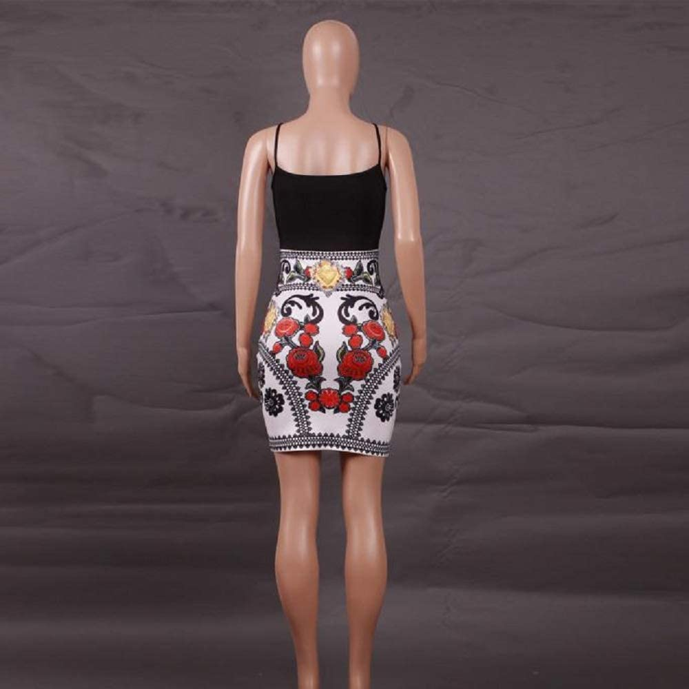 HGWXX7 Women Elegant Patchwork Print Bodycon Dress Cami Cocktail Pencil Dresses