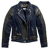 Harley-Davidson Women's Vix Denim & Leather Riding Biker Jacket 97203-17VW (M)