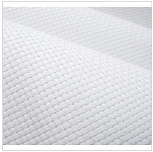 Tela Aida de punto de cruz 100% algodón 14CT, blanco, 100x200 cm ...